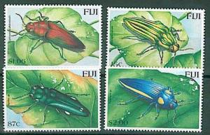 ANIMAL stamps: INSECTS - 2000 FIJI MNH 4 VALUES