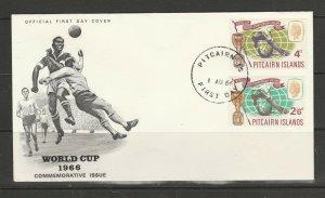 Pitcairn Islands FDC 1966 World Cup, Illus, Unaddressed