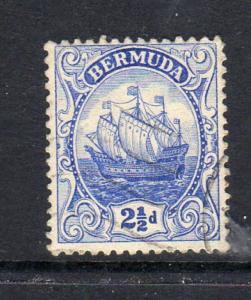 BERMUDA #87a  1926  2 1/2p CARAVEL    F-VF USED