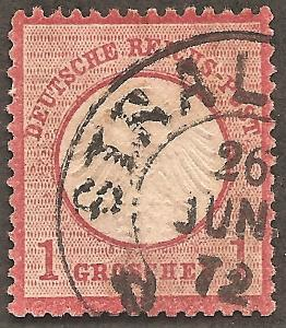 GERMANY Sc# 4 USED FVF Small Shield Imperial Eagle