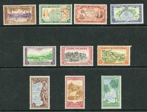 Cook Islands SG150/59 1940 Set of 10 M/M