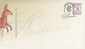 AFD1105) Australia 2013 Kangaroo and Map FDC. Price: $15