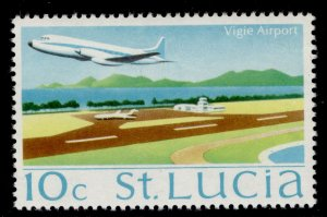 ST. LUCIA QEII SG281, 10c Vigie airport, NH MINT.