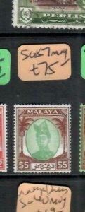 MALAYA TRENGGANU  (PP2706B)  SULTAN  $5   SG 87    MOG