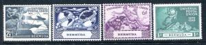 Bermuda 138-141, MNH, UPU-75 1949 Plane Ship Hemisphere Globe.