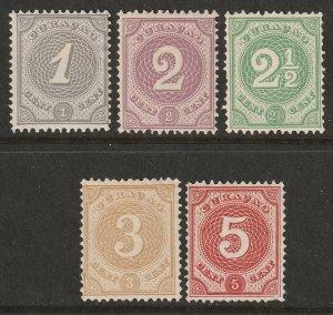 Netherlands Antilles 1889 Sc 13-7 set MH*/MNG(*)