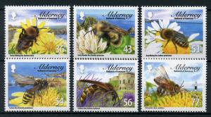 Alderney Guernsey 2009 MNH Bees Bumble Mining Honey Bee 6v Set Insects Stamps