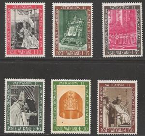 Vatican 1966 Council, set of 6, never hinged, Scott #439-444