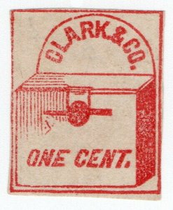 (I.B) US Local Post : Clark & Co 1c