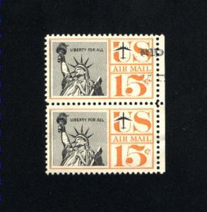 USA # C63  2   used pair 1961-67 PD .12