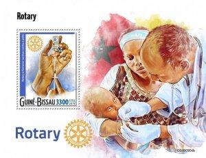 GUINEA BISSAU - 2019 - Rotary International - Perf Souv Sheet - M N H