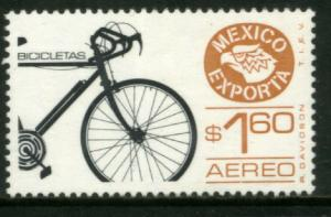 MEXICO Exporta C596, $1.60P Bicycles Wmkd Fosfo Paper 2 MINT, NH. VF.