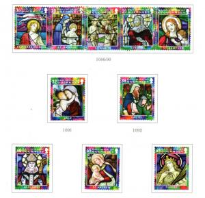 Guernsey Sc 880-5 2005 Christmas stamp set used