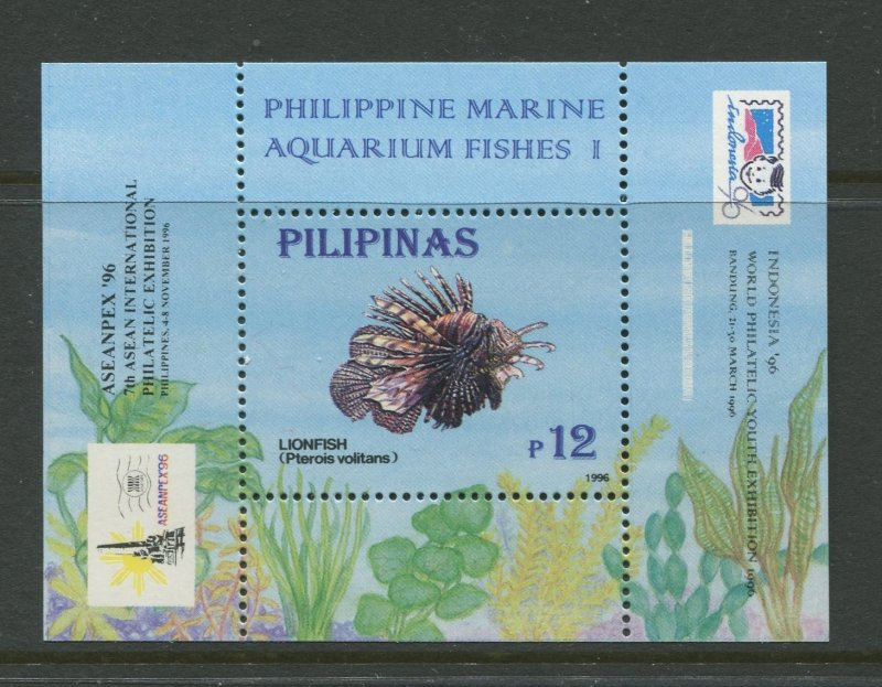 STAMP STATION PERTH Philippines #2404a Fish Souvenir Sheet MNH CV$4.00.
