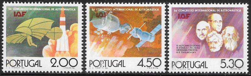 Portugal 1263-1266 Unused/Hinged - International Astronautical Federation