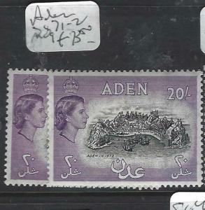 ADEN (P0204B)  QEII  20/-   SG 71-2   MOG