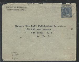 LEEWARD ISLANDS  (P1104B) 1934  KGV  2 1/2D ST KITTS TO USA