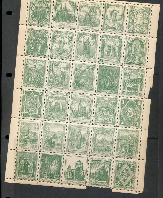 Religion School Aberdeen Nazareth Early MNH Labels(Approx 190) A7