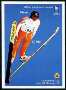 HERRICKSTAMP GHANA Sc.# 1713 Int'l Olympic Committee Imperf S/S