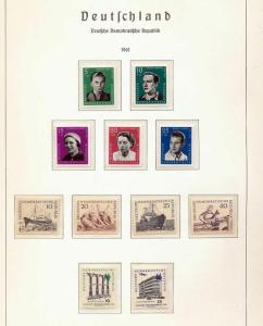 East Germany 1961/62 MNH Space Sport (Appx 80 Items) (St 340