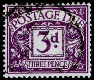 SG D60, 3d violet, FINE USED, CDS. WMK MULT CROWN