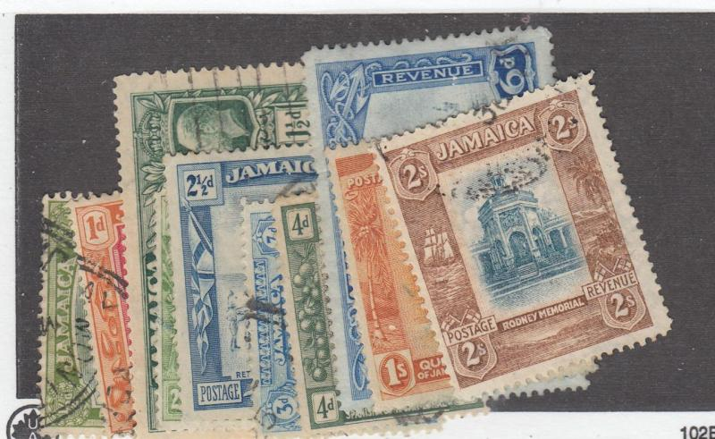 JAMAICA # 88-97 KGV ISSUES TO 2sh LIGHTLY USED