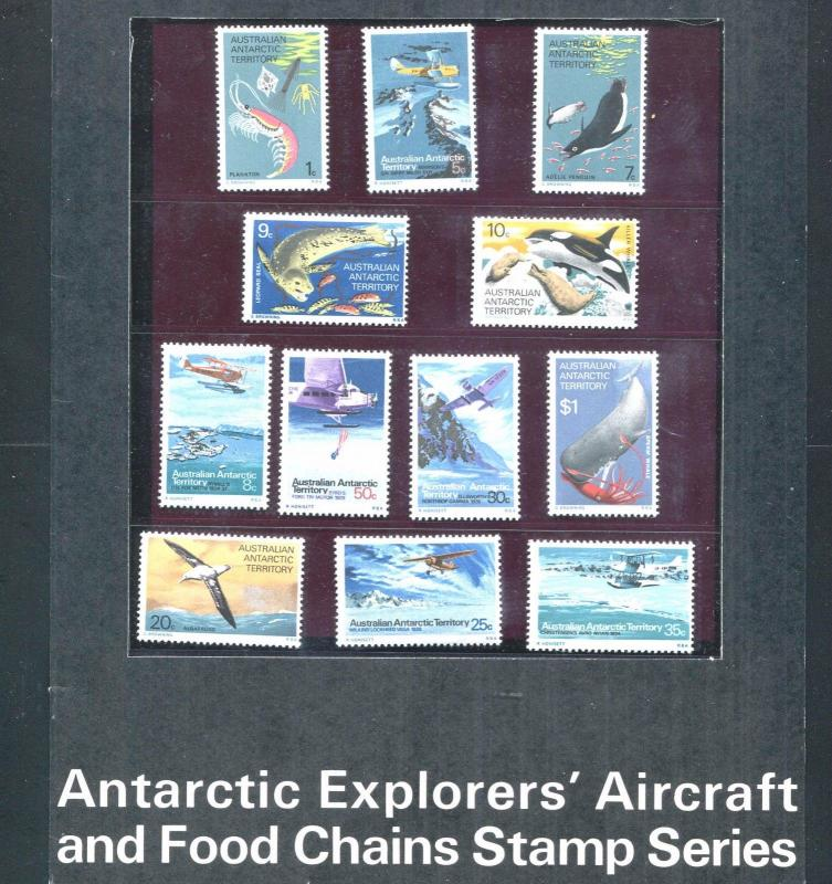 AUSTRALIA 1973 EXPLORERS AIRCRAFT FOOD CHAIN  Sc L23-L34 MNH SET (3rL2)