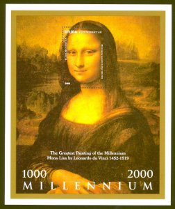 TURKMENISTAN 2000 MONA LISA Souvenir Sheet UNAUTHORIZED Issue Sc 78Footnote MNH