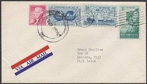 USA 1955 cover with nice franking to LAUTOKA, FIJI.........................M121