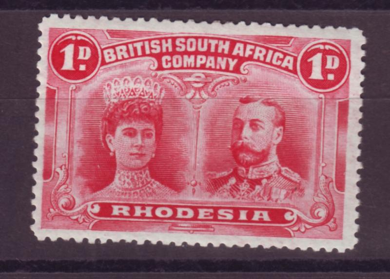 J17082 JLstamps 1910 rhodesia mh #102 king and queen
