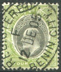 SOUTHERN NIGERIA-1905 4d Grey-Black & Olive-Green Sg 26 GOOD USED V48931