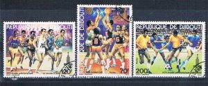 Djibouti 503-05 Used set Soccer 1979 (MV0266)