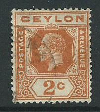 Ceylon Edward VII  SG 344   Used