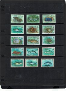 Ascension Island: 1991, Fish definitive set, Mint never hinged