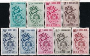 Venezuela 1951 SC C383-C391 MNH Set