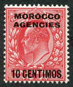 Morocco Agencies SG113 1907 10c on 1d Scarlet U/M