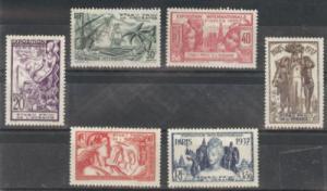 French Polynesia Scott 117-122 MH* set CV$40 Yv 121-6