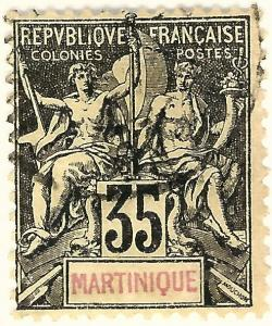 Martinique (Sc #46) F-VF Used..Prices are Rising!