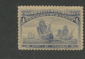 1893 US Stamp #233 4c Mint Never Hinged Fine Catalogue Value $150