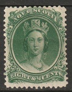 Nova Scotia 1860 Sc 11 MH* some disturbed gum