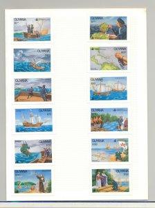 Guyana #2520-2531 Columbus, Ships, Maps 12v Imperf Proofs in Folder