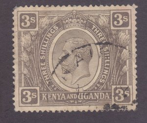 Kenya Uganda & Tanzania 32 Used 1922 3sh Gray Back KGV Issue Very Fine
