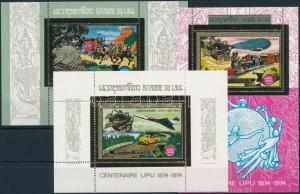 Laos stamp Centenary of UPU set+3 blocks 1975 MNH WS221327