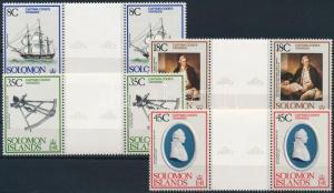 Solomon Islands Stamp James Cook set sheet-centered pairs MNH 1979 WS221189