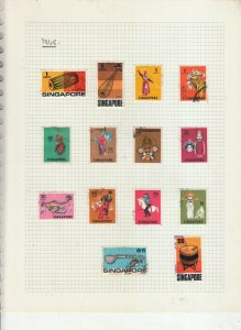 SINGAPORE 1962-68 SETS COMPLETE USED TO $5
