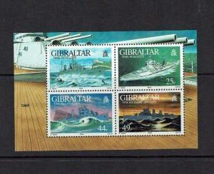 Gibraltar: 1996, World War II warships, miniature sheet, MNH