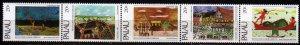 1983 Palau 24-28strip Painting / Christmas