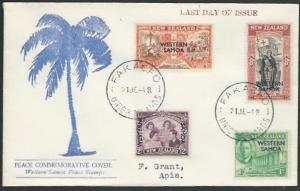 TOKELAU IS 1948 cover - last day of Samoa PO - used from FAKAOFO...........11502