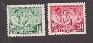 GERMANY - DDR SC# 233-4 F-VF MNH 1955