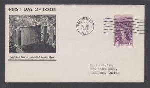 US Mel 774-11 FDC.1935 3c Boulder Dam, Boulder Dam Service Bureau cachet